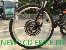 48V 1000W F Electric Bicycles Kits Conversion Motors PAS DISC LCD SENSOR Cycling