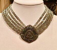 "HEIDI DAUS ""DECIDEDLY DECO 5-STRAND SWAROVSKI BEADED CRYSTAL STATION NECKLACE"