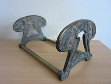 Antique Art Nouveau Brass/Bronze Woman Expanding Bookstand/Ends #9759