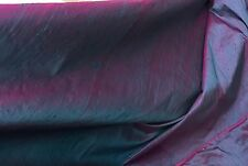 "TEAL FUCHSIA 2TONE 100% SILK DUPIONI FABRIC 54"" WIDE 1 YARD"