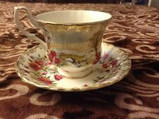 "ROYAL ALBERT FOUR SEASONS "" WINTER "" CUP AND SAUCER SET "" WINTER ROSES"""