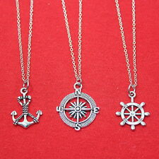 3 Best Friends Necklaces. Anchor, Compass & Rudder Necklaces.