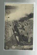 Mint WW 1 US Army Soldiers RPPC Chicago News Postcard Fighting Poison Gas Attack