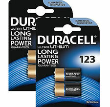 6 x Duracell CR123A CR123 123 3v Lithium Photo Battery Card of 1x6