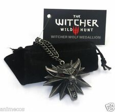 The Witcher 3 III Wild Hunt Wolf Medallion Chain Necklace Pendant