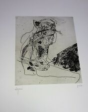 GIUSEPPE ZIGAINA (1924) Acquaforte su carta Fabriano cm.42X57