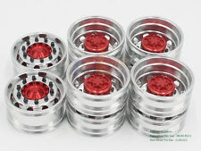 rc club  Alloy wheels 6X4 for Tamiya 1/14 Tractor Trucks MAN R620 Benz 3363 6pcs