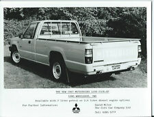 Mitsubishi L200 Long Wheel Base Pick-Up 2WD Original 1987 Press Photograph