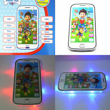 Cute PAW PATROL Figures Educational Learning Mobile Phone Kids Children Baby Toy