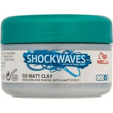 3 X Wella Shock Waves Messy MATT CLAY (75ml)