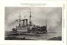 1898 Japanese Protected Cruiser Tokiwa Armstrong Whitworth Newcastle