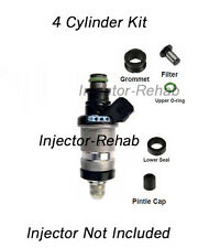Honda Acura Fuel Injector Service Repair Kit Filters O-rings Seals PINTLE CAPS!