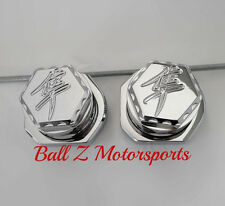08-16 Hayabusa Chrome 3D Hex Engraved Rear Axle Caps/Covers w/Adjuster Blocks!