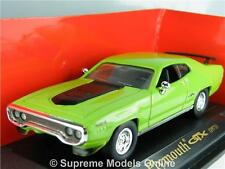 PLYMOUTH GTX 1971 CAR 1/43 SCALE MODEL GREEN 2 DOOR MUSCLE USA VERSION R0154X{:}
