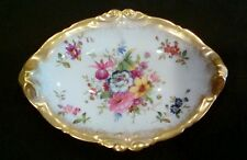 Vintage Lady Patricia Hammersley Bone China Dish Small Floral Signed
