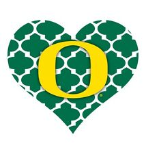 OREGON DUCKS MOROCCAN DESIGN HEART MAGNET-OREGON HEART MAGNET