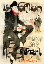 Art Poster - Le Grillon American Bar - French Deco A3 Print