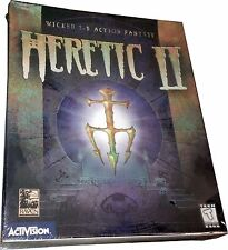 Heretic II Large Retail Box for PC *Vintage 1998* New! Mint in Sealed Box MISB!!