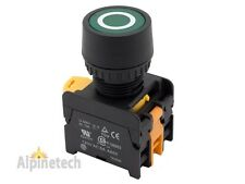 ATI PFL22 Green 22mm Push Button Latching Switch Illuminated 120V LED
