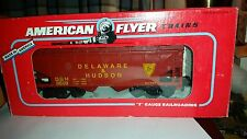 1993, American Flyer Delware & Hudson Covered Hopper Car, Die Cast, S Scale, MIB