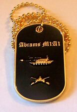 M1A1 Abrams Tank Iraq War Army USMC General Dynamics Cavalry Battle Dog Tag Case