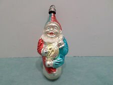 VINTAGE BLOWN GLASS CHRISTMAS TREE ORNAMENT CLOWN WITH A BANJO