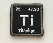 TITANIUM ELEMENT TI TACTICAL USA ARMY MORALE US MILITARY BADGE SWAT PATCH
