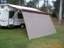 Shade Curtain for your Caravan Roll out Awning - 2.1 drop x 3.0 m wide grey