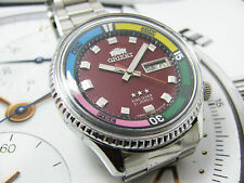 RARE Vintage Orient KD King Diver Automatic Red Dial gents.