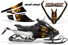 ARCTIC CAT F SERIES SNOWMOBILE GRAPHICS KIT CREATORX DECALS SKULL CHIEF ORANGE