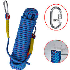 20M 10mm Diamete Safety Outdoor Climbing Rope Rappelling Cord Strap Camping New