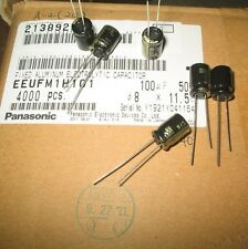 10pcs/lot Panasonic FM 100UF 50V Electrolytic capacitor MADE IN JAPAN