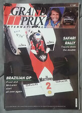 1985 MAY GRAND PRIX INTERNATIONAL MAGAZINE F1 GP PROST MCLAREN TOYOTA MARLBORO 2