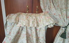 """Dorma Country Diary WILD FLOWERS Long Curtains, Pelmet and ties 67""""w 88""""d"""