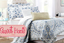 American Style Patchwork Bedspread Quilt 3pc Set Queen + Ling's Gift