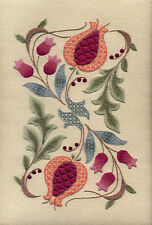 """Crewelwork Embroidery Kit """"Pomegranates And Rowan"""" By Melbury Hill"""