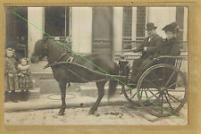 Cpa Carte Photo RPPC attelage poney Shetland Paris 12e quartier Picpus ph0336