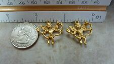 Quality brass castings findings CUPID W/BOW & ARROW dangle A340