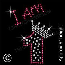 """""""estoy 1"""" Chica de diamantes de imitación de transferencia de la revisión de hierro en Motif Con Un Regalo Gratis"""