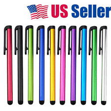 10pcs Metal Touch Screen Stylus Ballpoint Pen for iPad iPhone Samsung Tablet PC