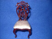 Dollhouse miniature: baroque chair w/cushion by Bespaq, 1:12 scale, #3886