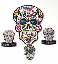 Dia de los Muertos (Day of the Dead) Candy Mask Embroidered Patch + Badges (C1)
