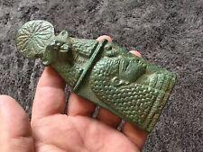 Rare ancienne Egyptain PTOLEMAÏQUE bronze faeince offrant plaque 300-350 bc