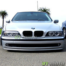 Black 1997-2003 BMW E39 5-Series LED CCFL Projector Headlights Lamps Left+Right