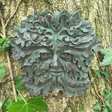 Green Gothic Greenman Garden Wall Plaque Outdoor Celtic Pagan Decorative 09004