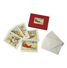 TINTIN MOULINSART HERGE 10 CARTOLINE NATALE CHRISTMAS GREETING CARDS 31305