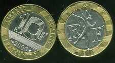 10 FRANCS  GENIE   2000