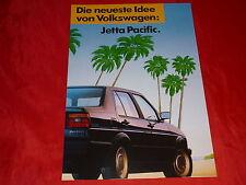 """VW Jetta """"Pacific"""" Sondermodell Prospekt von 1989"""