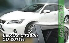DLE30019 LEXUS CT 200H 5 DOOR 2010-up  WIND DEFLECTORS 4pc HEKO TINTED