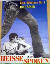 Sexploitation HEISSE SPOREN original Kino Plakat A1 gerollt Hot Spur